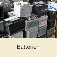 Gebrauchte Autobatterien