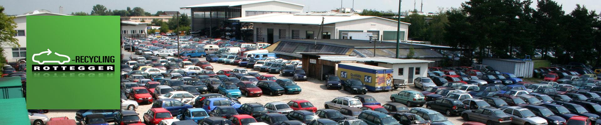Das KFZ-Entsorgungsunternehmen Autoverwertung Rottegger in Garching