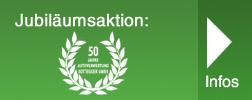 Jubiläumsaktion zum 50-jährigen Bestehen der Autoverwertung Rottegger GmbH