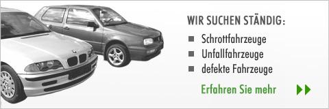 Firma Rottegger sucht ständig Schrottfahrzeuge, Unfallfahrzeuge und defekte KFZ
