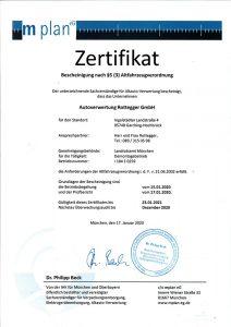 Zertifikat Altfahrzeug-Verordnung 2020-2021
